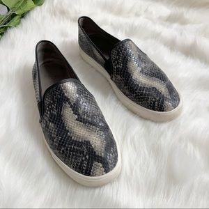 Vince   Snake Effect Leather Blair-5 Sneakers